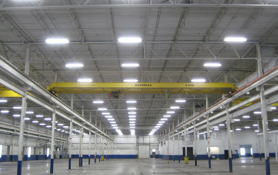 Manufacturing company T5 high bay lighting retrofit project