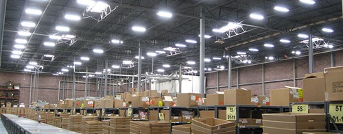 Energy efficient lighting high bay fixtures, and HID warehouse lighting retrofits.