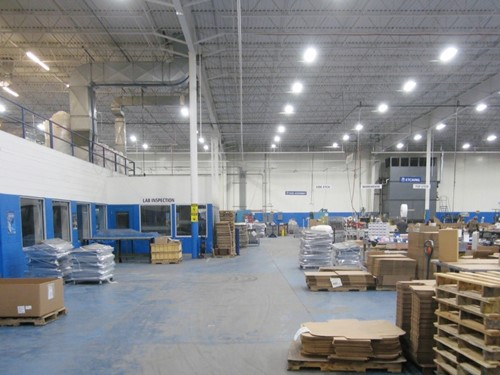 Installation of Philips G10, 16,000 LED high bay fixtures