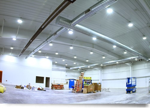 Dialight high bay fixtures - new warehouse installation